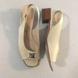 Salvatore Ferragamo | Tan Leather Slingback Shoes
